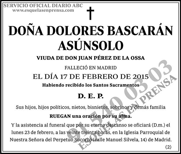 Dolores Bascarán Asúnsolo
